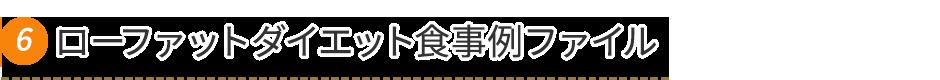ローファットダイエット食事例ファイル