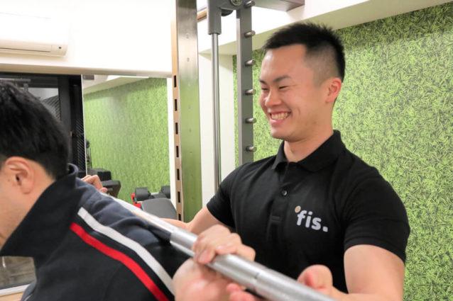 fis.心斎橋店藤本トレーナーセッション風景