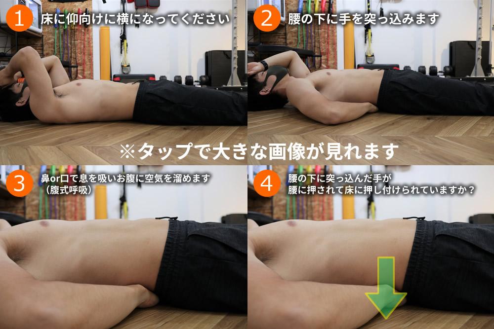 腹圧のかけ方テスト